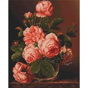 """Набор для вышивания крестом Luca-S """"Ваза с розами"""""""