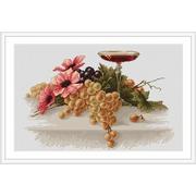"""Набор для вышивания крестом Luca-S """"Цветы и виноград"""""""