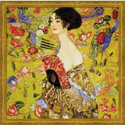 """Набор для вышивания крестом Риолис """"Дама с веером"""" по мотивам картины Г. Климта"""