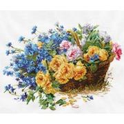"""Набор для вышивания крестом Алиса """"Розы и васильки"""""""