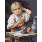 """Набор для вышивания крестом Luca-S """"Крестьянка"""""""