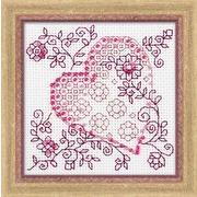 """Набор для вышивания крестом Риолис """"Нежное сердце"""""""