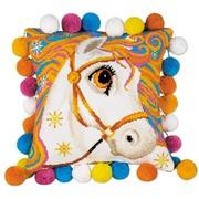 """Набор для вышивания крестом Риолис Подушка """"Златогривая лошадка"""""""