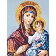 "Канва/ткань с нанесенным рисунком Gobelin-L ""Дева Мария с младенцем"""