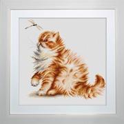 """Набор для вышивания крестом Luca-S """"Кошка со стрекозой"""""""