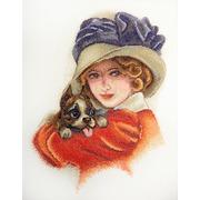 """Набор для вышивания крестом Марья искусница """"Дама с собачкой"""""""