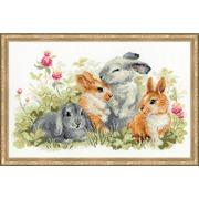 """Набор для вышивания крестом Риолис """"Забавные крольчата"""""""