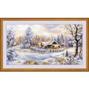 """Набор для вышивания крестом Риолис """"Зимний вечер"""""""