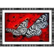 """Набор для вышивания бисером Паутинка """"Бабочки на красном"""""""