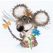 """Набор для вышивания крестом Алиса """"Влюбленный мышонок"""""""