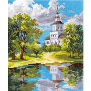 """Набор для вышивания крестом Алиса """"Храм у пруда"""""""