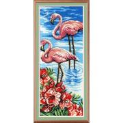 """Набор для вышивания бисером М.П. Студия """"Фламинго"""""""