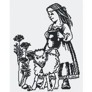 """Набор для вышивания крестом М.П. Студия """"Девочка с ягненком"""""""