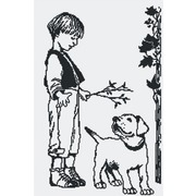 """Набор для вышивания крестом М.П. Студия """"Мальчик с собакой"""""""