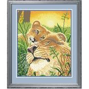 """Набор для вышивания крестом М.П. Студия """"Лев и львенок"""""""