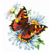"""Набор для вышивания крестом Чудесная игла """"Бабочка и ромашка"""""""