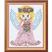 """Набор для вышивания крестом М.П. Студия """"Ангел в розовом"""""""