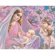 """Канва/ткань с нанесенным рисунком Конёк """"Мадонна с младенцами"""""""