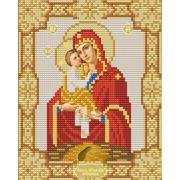 """Канва/ткань с нанесенным рисунком Конёк """"Почаевская Богородица"""""""