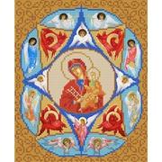 """Канва/ткань с нанесенным рисунком Конёк """"Богородица Неопалимая Купина"""""""