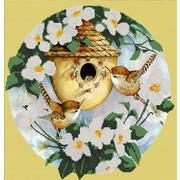 """Канва/ткань с нанесенным рисунком Конёк """"Птички"""""""