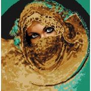 "Канва/ткань с нанесенным рисунком Конёк ""Восточная красавица"""