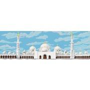 """Канва/ткань с нанесенным рисунком Конёк """"Мечеть шейха Заида в Абу-Даби"""""""