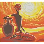 "Канва/ткань с нанесенным рисунком Конёк ""Летний зной"""