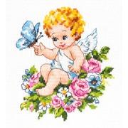 """Набор для вышивания крестом Чудесная игла """"Ангел нашей любви!"""""""