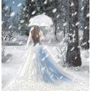 "Канва/ткань с нанесенным рисунком Конёк ""Леди Зима"""