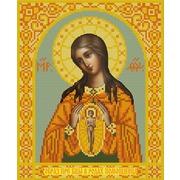 """Канва/ткань с нанесенным рисунком Конёк """"Богородица помощница в родах"""""""