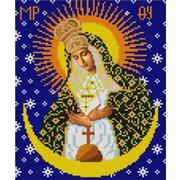 """Канва/ткань с нанесенным рисунком Конёк """"Остробрамская Богородица"""""""