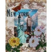 """Набор для вышивания бисером Глурия (Астрея) """"Вокруг света - Нью Йорк"""""""