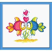 """Набор для вышивания крестом Овен """"Влюбленные рыбки"""""""