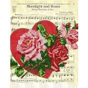 """Канва/ткань с нанесенным рисунком Конёк """"Лунный свет и розы"""""""