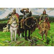 """Канва/ткань с нанесенным рисунком Конёк """"Три богатыря"""" (В. Васнецов)"""