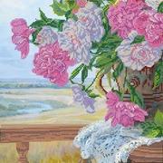 """Канва/ткань с нанесенным рисунком Абрис Арт """"Любимые цветы"""""""