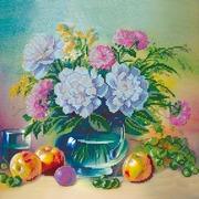 """Канва/ткань с нанесенным рисунком Абрис Арт """"Яблоки и виноград"""""""