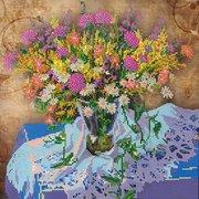 "Канва/ткань с нанесенным рисунком Абрис Арт ""Луговые цветы - 1"""