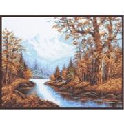"""Набор для вышивания крестом Палитра """"Пейзаж с горами"""""""