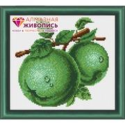 """Набор для выкладывания мозаики Алмазная живопись """"Зеленые яблоки"""""""