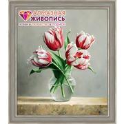 """Набор для выкладывания мозаики Алмазная живопись """"Распускающиеся тюльпаны"""""""