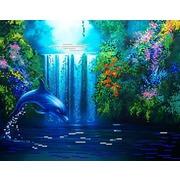 """Канва/ткань с нанесенным рисунком Конёк """"Дельфин"""""""