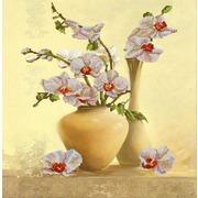 """Канва/ткань с нанесенным рисунком Конёк """"Орхидея"""""""