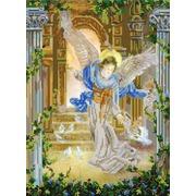 """Канва/ткань с нанесенным рисунком Конёк """"Ангел и голуби"""""""