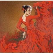 "Канва/ткань с нанесенным рисунком Конёк ""Фламенко"""