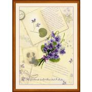 """Набор для вышивания крестом Риолис """"Письма о любви. Фиалки"""""""
