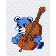 """Канва/ткань с нанесенным рисунком Матрёнин посад """"Мишка со скрипкой"""""""