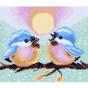 """Канва/ткань с нанесенным рисунком Матрёнин посад """"Две птички"""""""