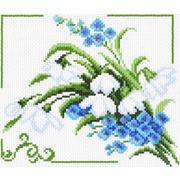 """Канва/ткань с нанесенным рисунком Матрёнин посад """"Весенние цветы"""""""